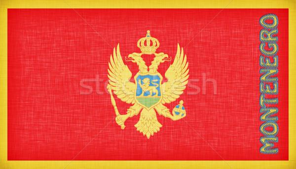 Linen flag of Montenegro  Stock photo © michaklootwijk