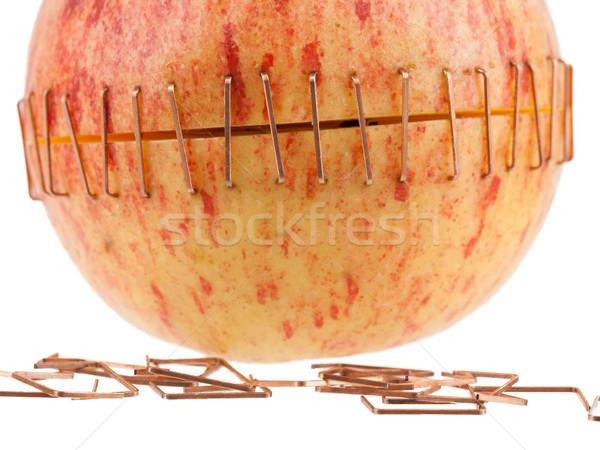 Stock fotó: Szeletel · alma · sárgaréz · gyümölcs · egészség · piros