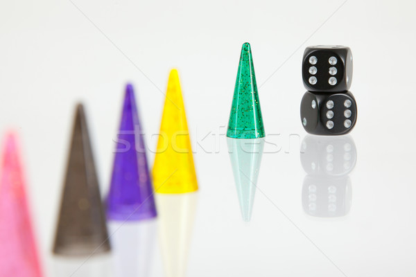 Different colored pawns isolated Stock photo © michaklootwijk
