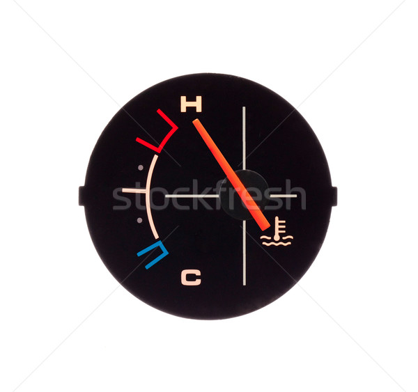 Temperature guage of a motorbike Stock photo © michaklootwijk