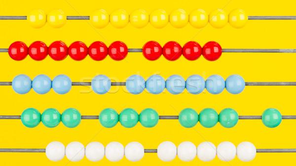 счеты желтый школы инструменты красный Сток-фото © michaklootwijk
