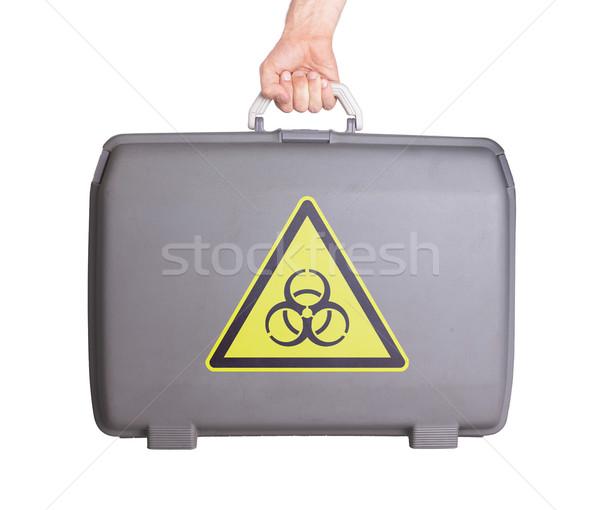中古 プラスチック スーツケース 印刷 にログイン ストックフォト © michaklootwijk