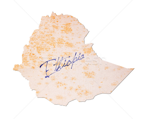 Ethiopia - Old paper with handwriting Stock photo © michaklootwijk