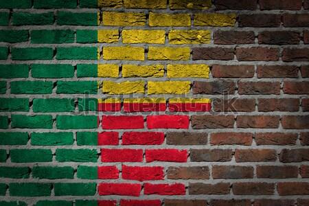 темно кирпичная стена правые Йемен текстуры флаг Сток-фото © michaklootwijk