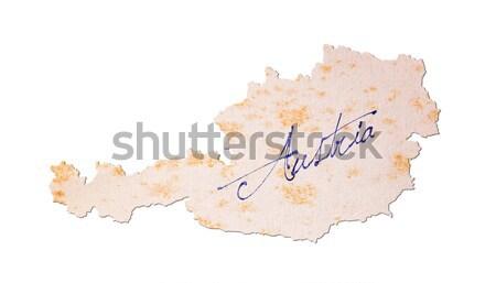 старой бумаги почерк Мексика синий чернила образование Сток-фото © michaklootwijk