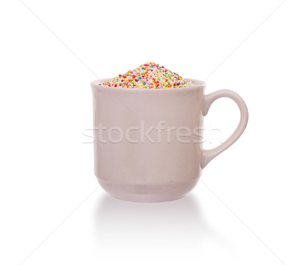 Candy decorations in a white cup Stock photo © michaklootwijk