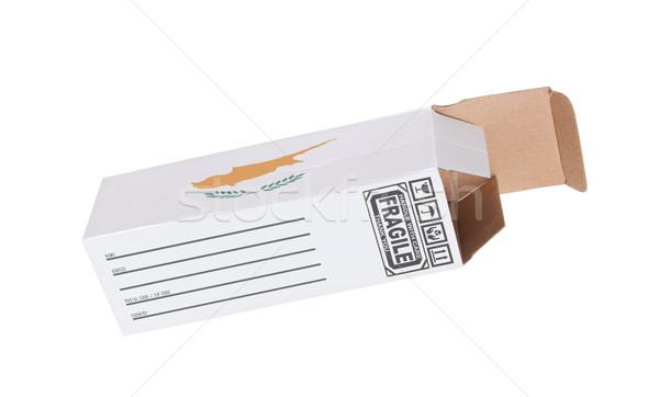 Exporteren product Cyprus papier vak Stockfoto © michaklootwijk