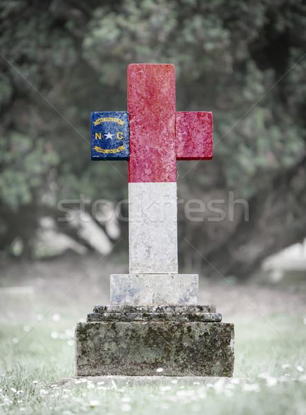 Nagrobek cmentarz North Carolina starych wyblakły trawy Zdjęcia stock © michaklootwijk