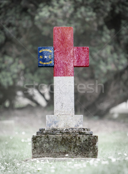Gravestone in the cemetery - North Carolina Stock photo © michaklootwijk