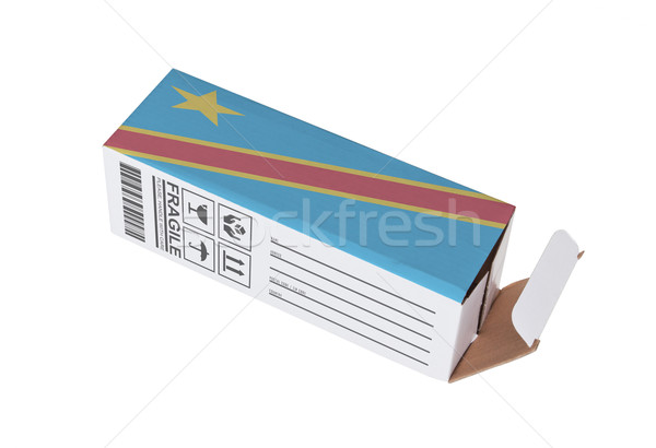 Exportar producto Congo papel cuadro Foto stock © michaklootwijk