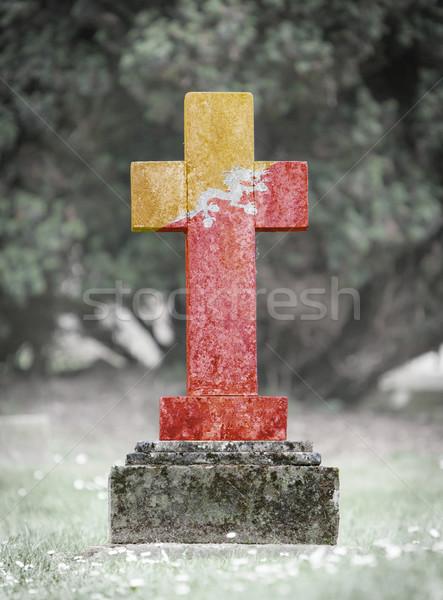 Gravestone in the cemetery - Bhutan Stock photo © michaklootwijk
