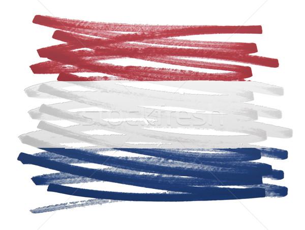 Bandiera illustrazione Paesi Bassi pen design silhouette Foto d'archivio © michaklootwijk