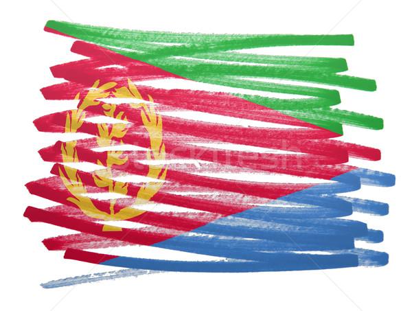 Banderą ilustracja Erytrea pióro działalności projektu Zdjęcia stock © michaklootwijk