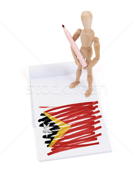 Wooden mannequin made a drawing - East Timor Stock photo © michaklootwijk