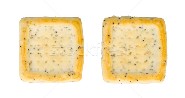 Simple square crackers isolated Stock photo © michaklootwijk