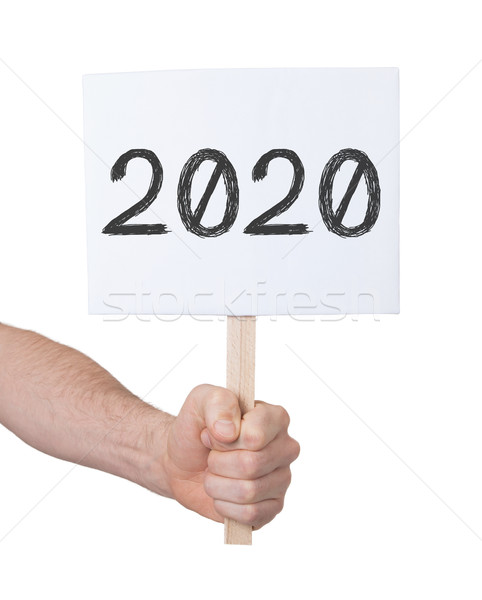 Sign with a number - The year 2020 Stock photo © michaklootwijk