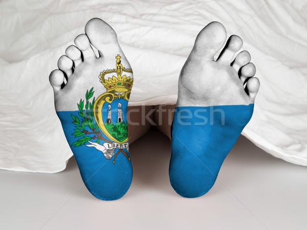 Láb zászló alszik halál San Marino nő Stock fotó © michaklootwijk
