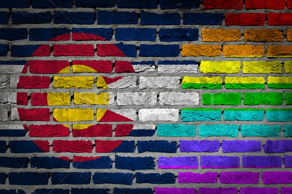 Dark brick wall - LGBT rights - Colorado Stock photo © michaklootwijk