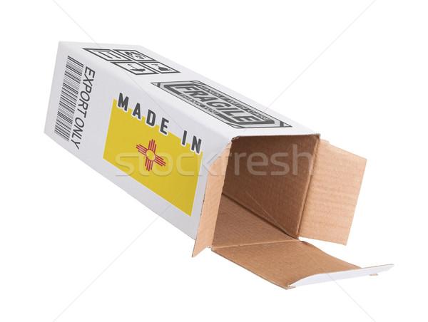 Exportar produto Novo México papel caixa Foto stock © michaklootwijk