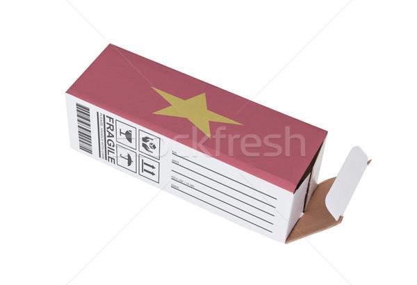 Exporter produit Viêt-Nam papier boîte Photo stock © michaklootwijk