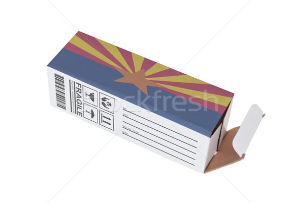 Exportar produto Arizona papel caixa Foto stock © michaklootwijk
