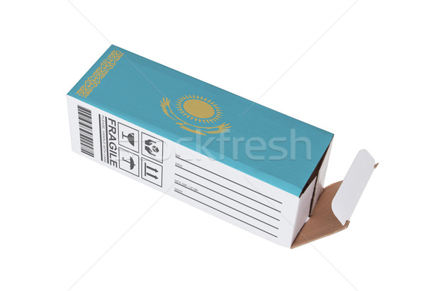 Exportar produto Cazaquistão papel caixa Foto stock © michaklootwijk