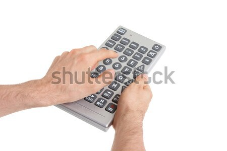 Media conceptual image - Unusual large remote control Stock photo © michaklootwijk