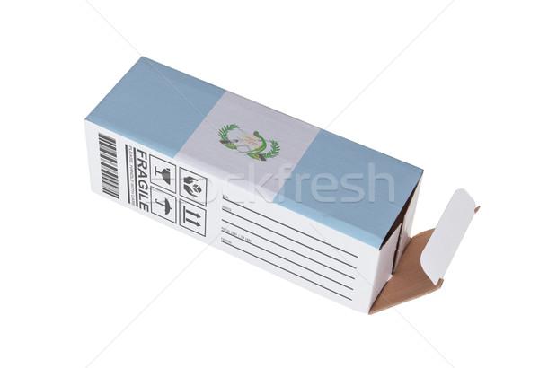 Exportar produto Guatemala papel caixa Foto stock © michaklootwijk