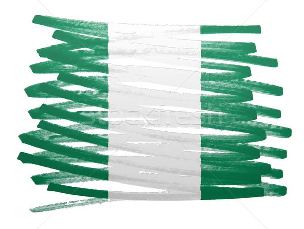 Banderą ilustracja Nigeria pióro projektu farby Zdjęcia stock © michaklootwijk