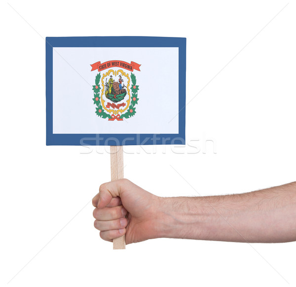 стороны небольшой карт флаг Западная Виргиния Сток-фото © michaklootwijk