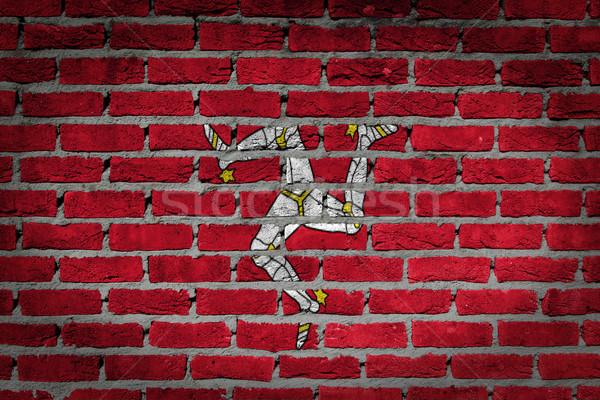 Dark brick wall - Isle of man Stock photo © michaklootwijk