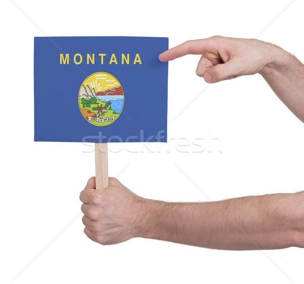 El küçük kart bayrak Montana Stok fotoğraf © michaklootwijk