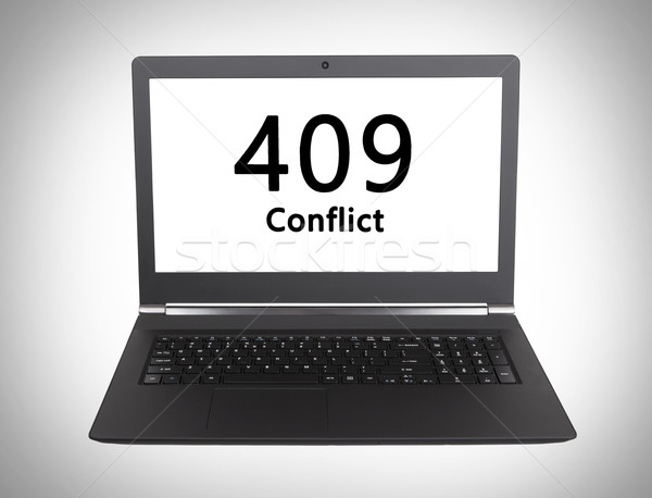 Http cod conflict laptop ecran Imagine de stoc © michaklootwijk