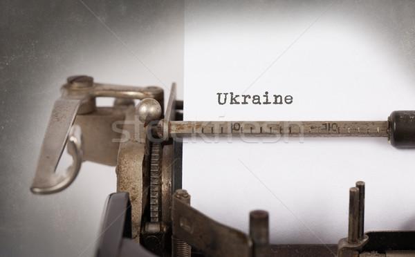 古い タイプライター ウクライナ 碑文 ヴィンテージ 国 ストックフォト © michaklootwijk