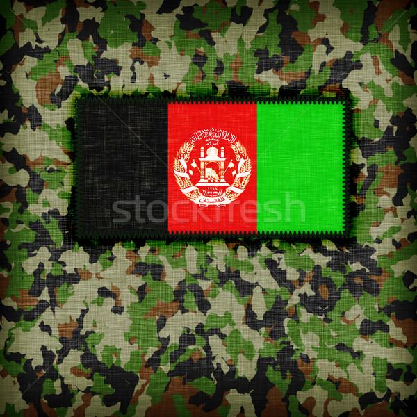 Uniforme Afeganistão bandeira textura verde Foto stock © michaklootwijk
