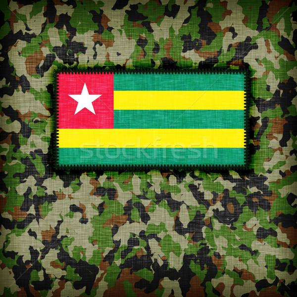 Kamuflaż uniform Togo banderą streszczenie zielone Zdjęcia stock © michaklootwijk