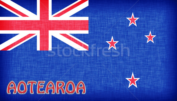 Linen flag of New Zealand Stock photo © michaklootwijk