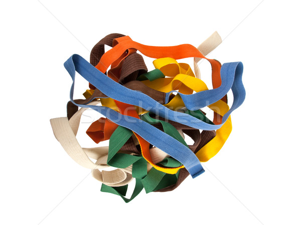 Collection of belts isolated Stock photo © michaklootwijk