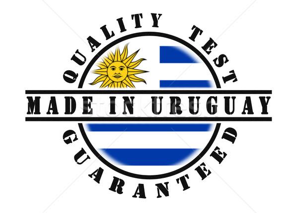 Foto stock: Calidad · prueba · sello · bandera · dentro