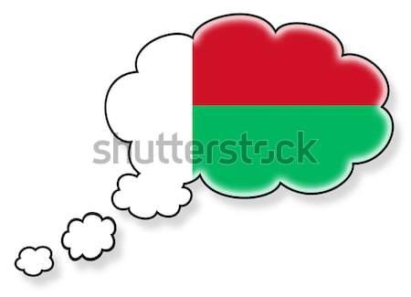 Zászló felhő izolált fehér Maldív-szigetek művészet Stock fotó © michaklootwijk