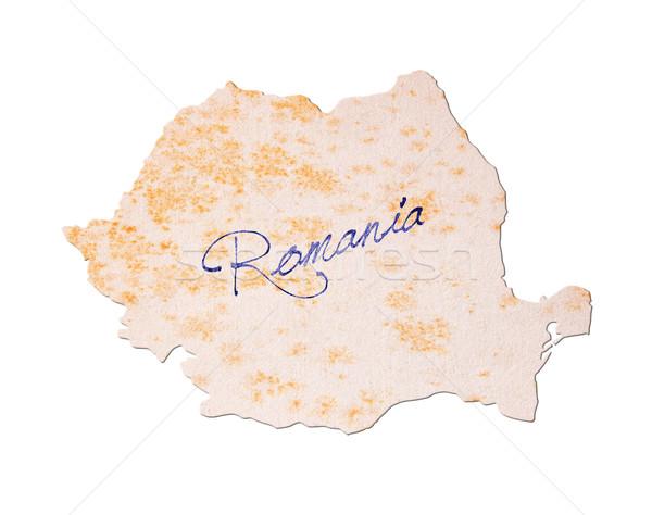 Rumania papel viejo escritura azul tinta viaje Foto stock © michaklootwijk