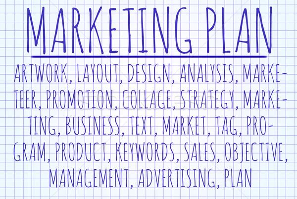 Marketing plan word cloud Stock photo © michaklootwijk