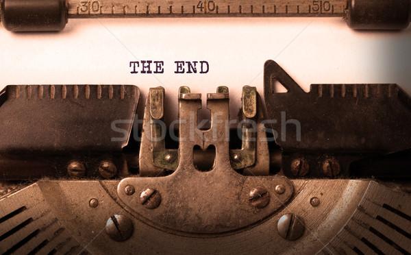 Foto stock: Vintage · edad · máquina · de · escribir · carta