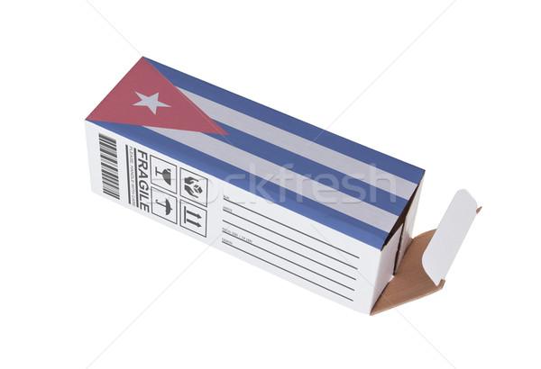 Concept of export - Product of Cuba Stock photo © michaklootwijk