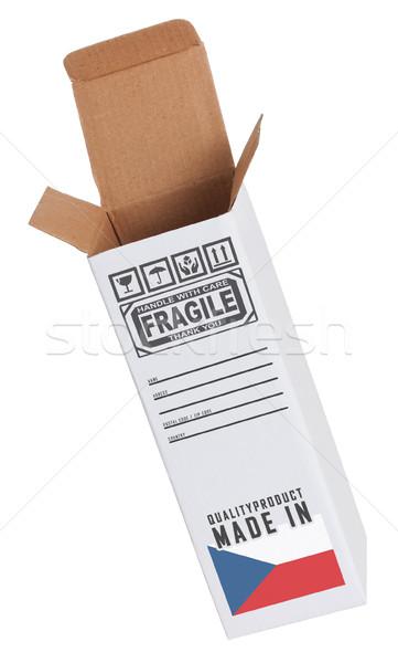Exporter produit République tchèque papier boîte Photo stock © michaklootwijk