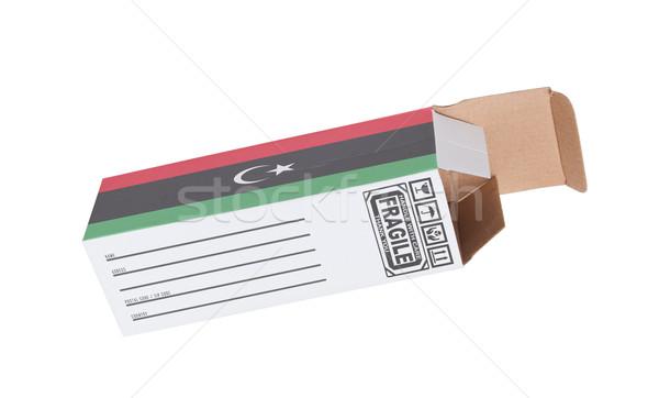 エクスポート 製品 リビア 紙 ボックス ストックフォト © michaklootwijk