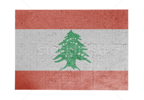 большой 1000 частей Ливан флаг Сток-фото © michaklootwijk