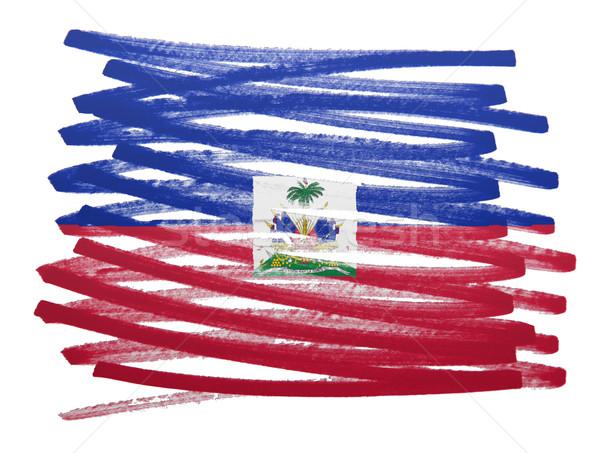 Pavillon illustration Haïti stylo affaires peinture Photo stock © michaklootwijk