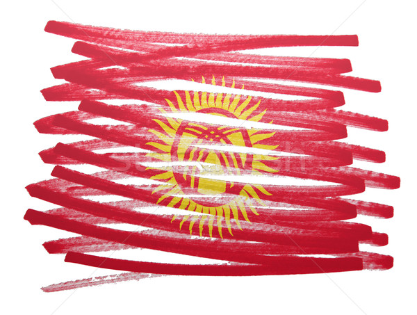флаг иллюстрация Киргизия пер бизнеса краской Сток-фото © michaklootwijk