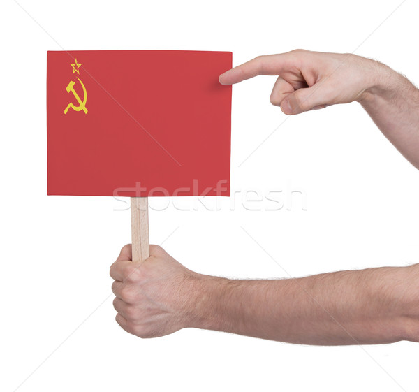 Hand holding small card - Flag of the USSR Stock photo © michaklootwijk